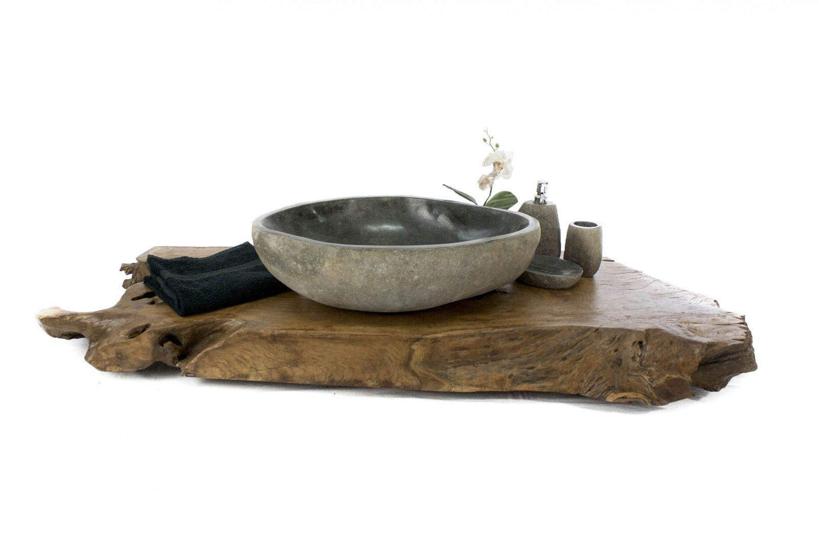 Waschtischplatte Aus Altem Holz  Der Fliesenonkel von Waschtisch Holz Mit Aufsatzwaschbecken Bild