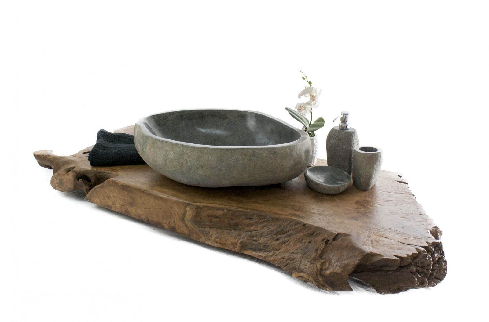 Waschtischplatte Aus Altem Holz  Der Fliesenonkel von Waschtisch Holz Mit Aufsatzwaschbecken Photo