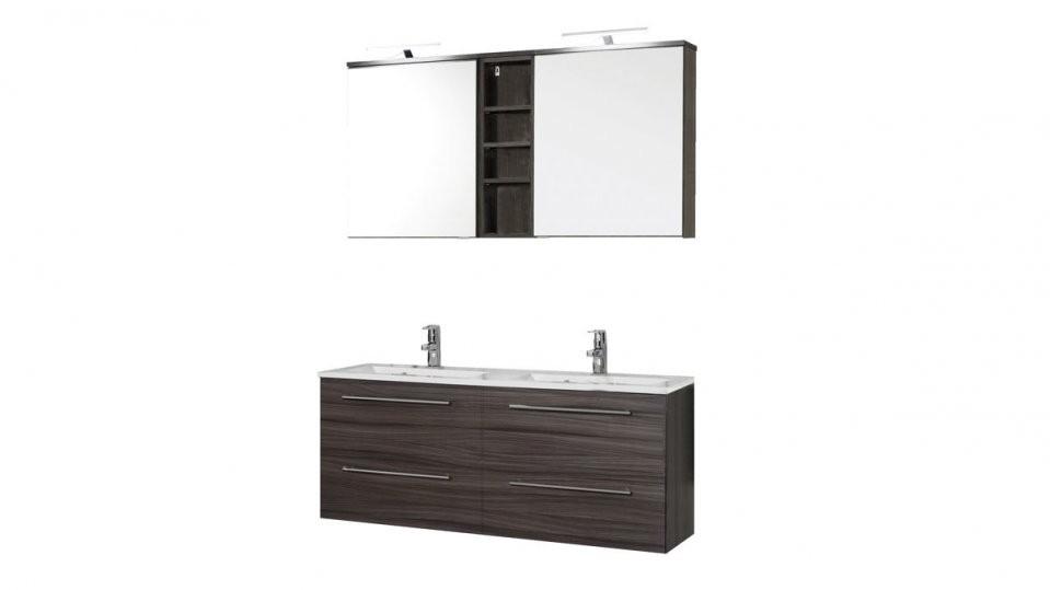 Waschtischset Mailand Als Badmöbel Mit Spiegelschrank  Dunkel von Möbel Steffens Lamstedt Küchen Bild