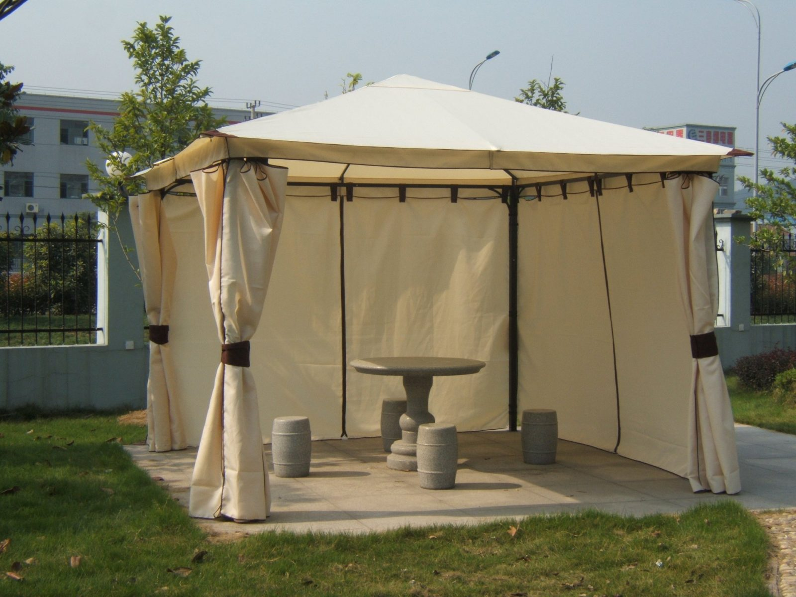 Wasserdicht Pavillon Toskana 3X3M Wasserfest Pvc Metall Ideen von Pavillon Metall 3X3 Wasserdicht Bild