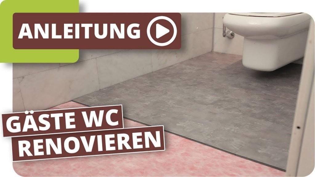 Wc Renovierung Mit Klick Vinyl  Youtube von Vinylboden Im Bad Verlegen Photo