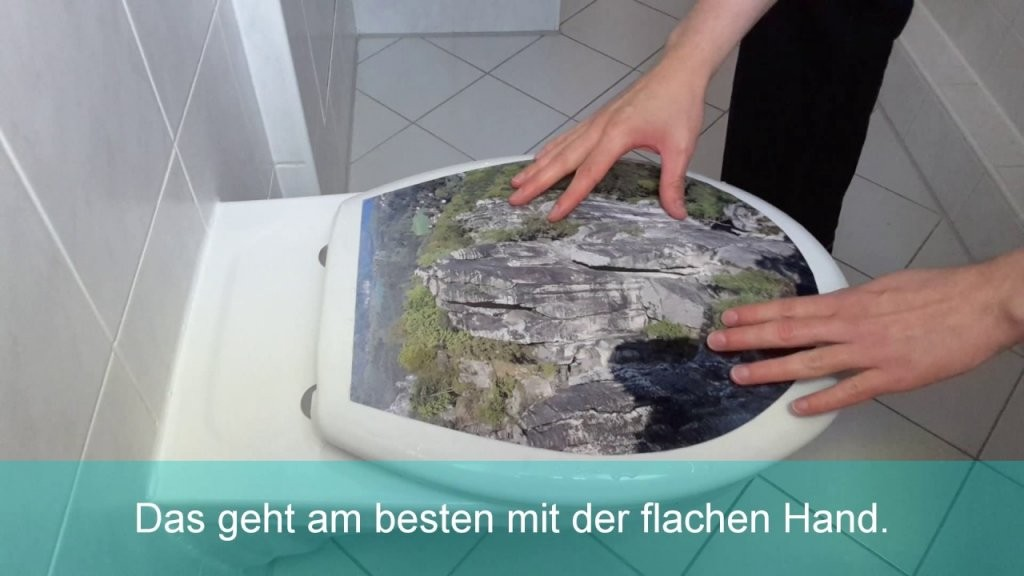 Wcsitz Aufkleber Montagevideo  Youtube von Wc Sitz Aufkleber Selber Gestalten Photo