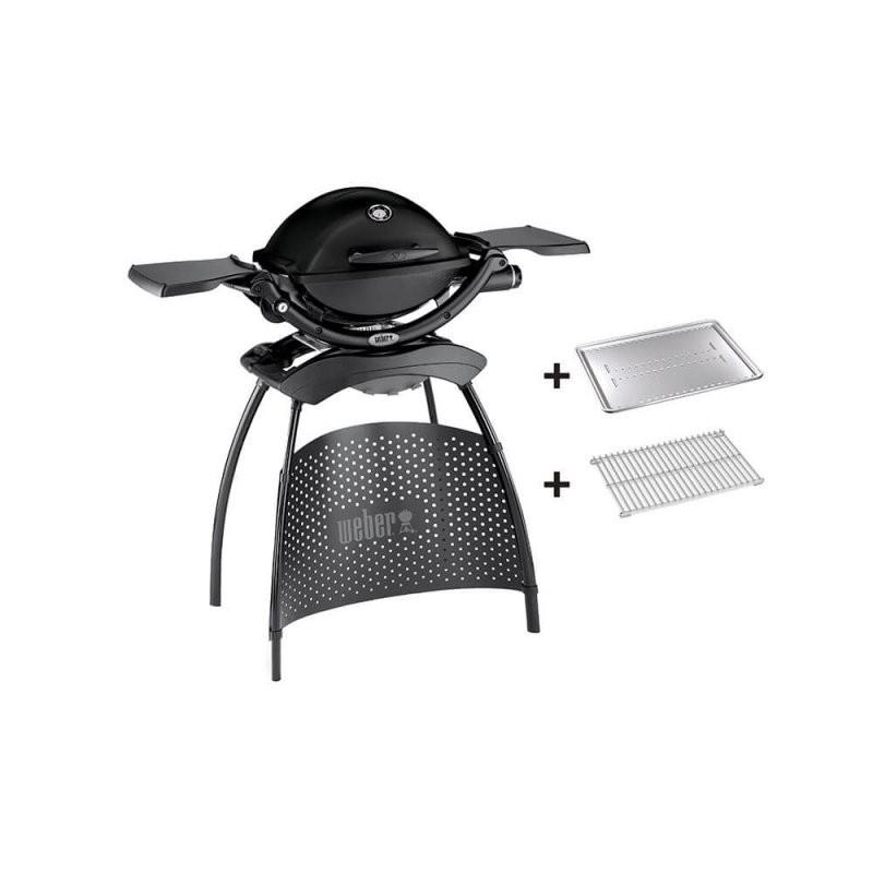 Weber® Q 1200 Gasgrill Mit Stand Black von Weber Q 2200 Stand Granite Grey Bild