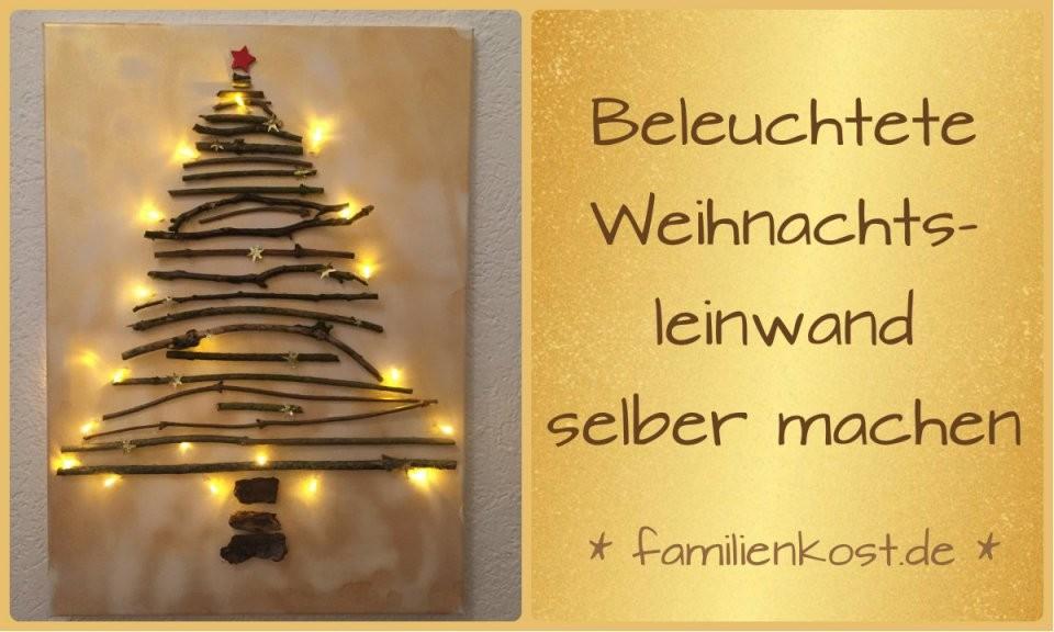 Weihnachtsleinwand Mit Lichterkette Selber Machen von Bild Auf Leinwand Selber Machen Bild