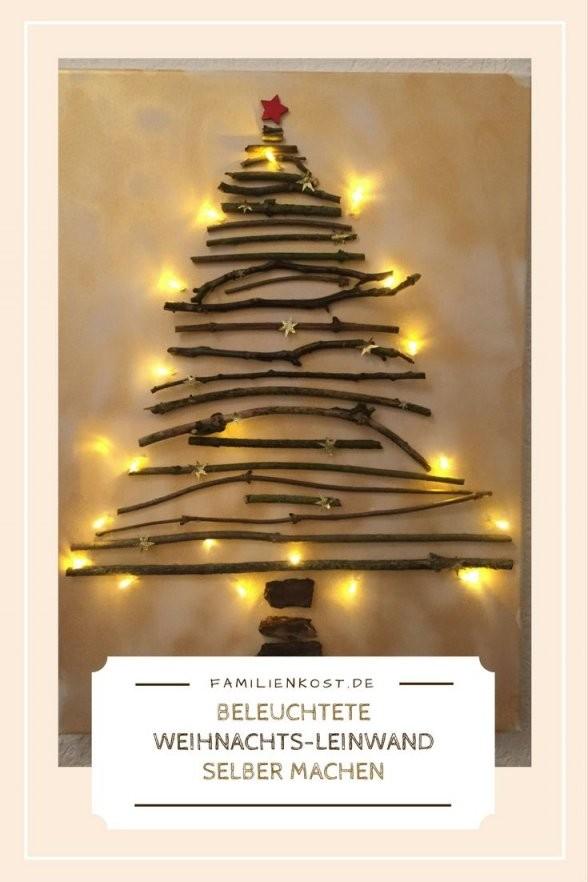 Weihnachtsleinwand Mit Lichterkette Selber Machen  Weihnachten von Bild Auf Leinwand Selber Machen Bild