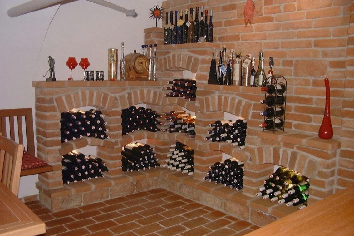 Weinregal Selber Bauen Ziegel  Dekorieren Bei Das Haus von Weinkeller Bauen Selber Machen Photo