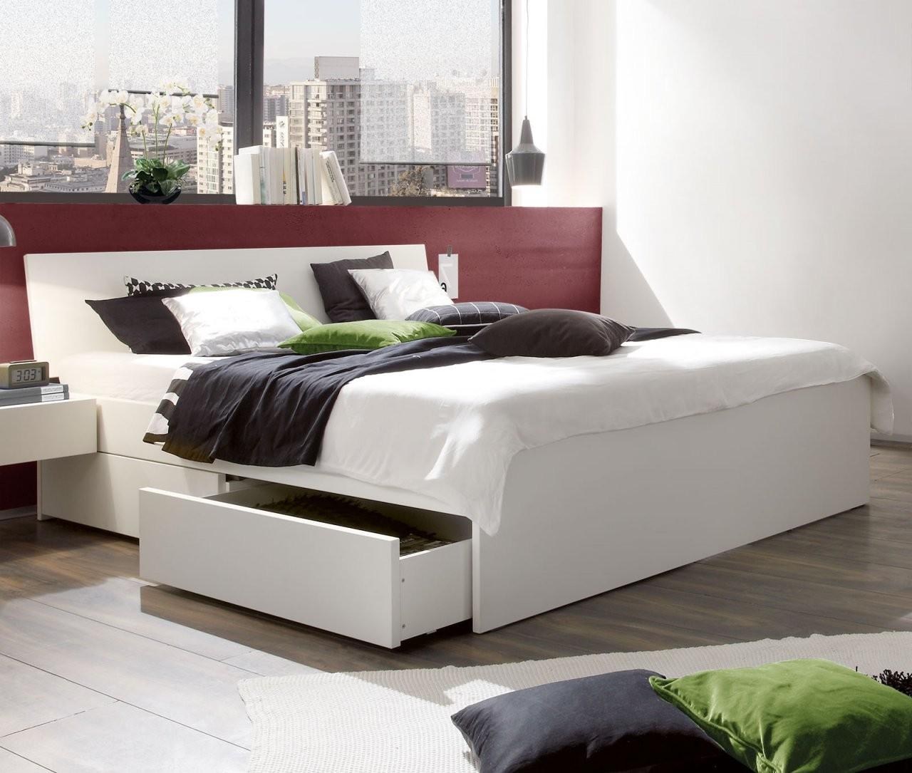 Weißes Schubkastenbett In Übergrößen Erhältlich  Liverpool von Bett Weiß Ohne Kopfteil Photo