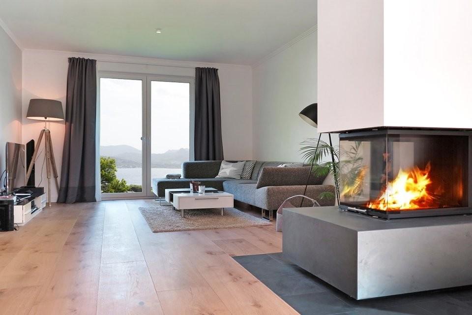 Welcher Kamin Für Das Wohnzimmer  Zuhause Bei Sam® von Säule Im Wohnzimmer Gestalten Bild