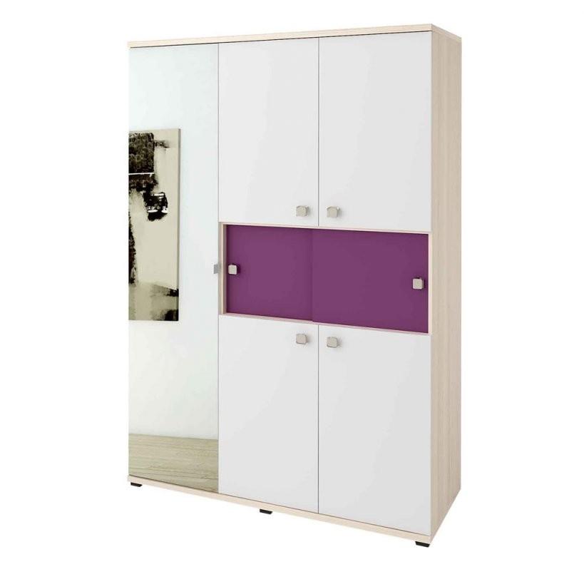 Wellemöbel Unlimited Kleiderschrank 5T + Spiegel Front Weiß von Kleiderschrank Weiß Lila Mit Spiegel Photo