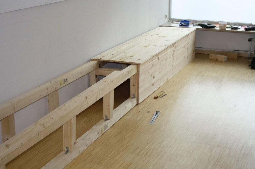 Wenn Man Stauraum Braucht  Bauanleitung Zum Selberbauen  12Do von Eckbank Mit Stauraum Selber Bauen Bild