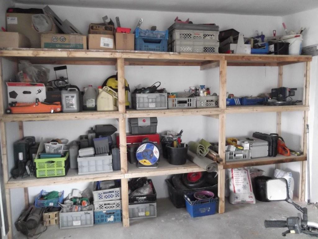 Werkstattregal 4M X 2M X 080 M  Bauanleitung Zum Selberbauen  1 von Regal Abstellraum Selber Bauen Photo