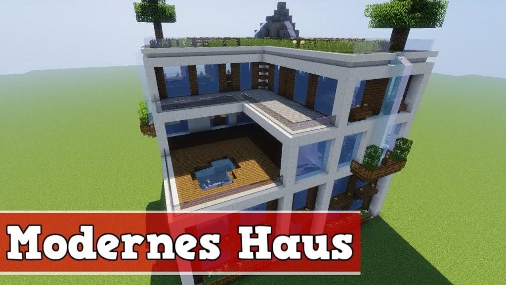 Wie Baut Man Ein Modernes Haus In Minecraft  Minecraft Modernes von Coole Minecraft Häuser Zum Nachbauen Bild