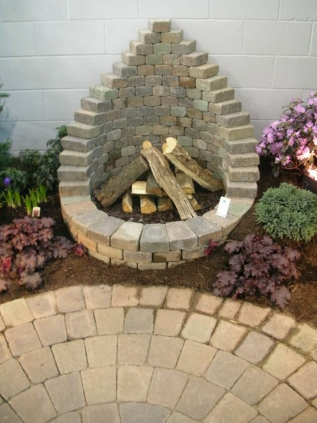 Wie Können Sie Eine Feuerstelle Bauen  60 Fotobeispiele  Fire Pit von Garten Feuerstelle Selber Bauen Bild