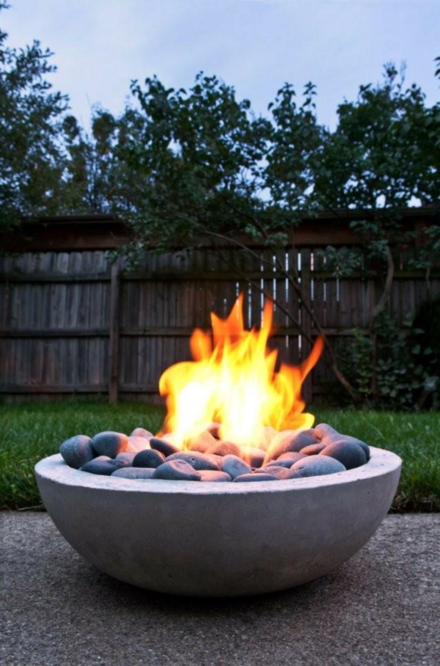 Wie Können Sie Eine Feuerstelle Bauen  60 Fotobeispiele von Garten Feuerstelle Selber Bauen Bild