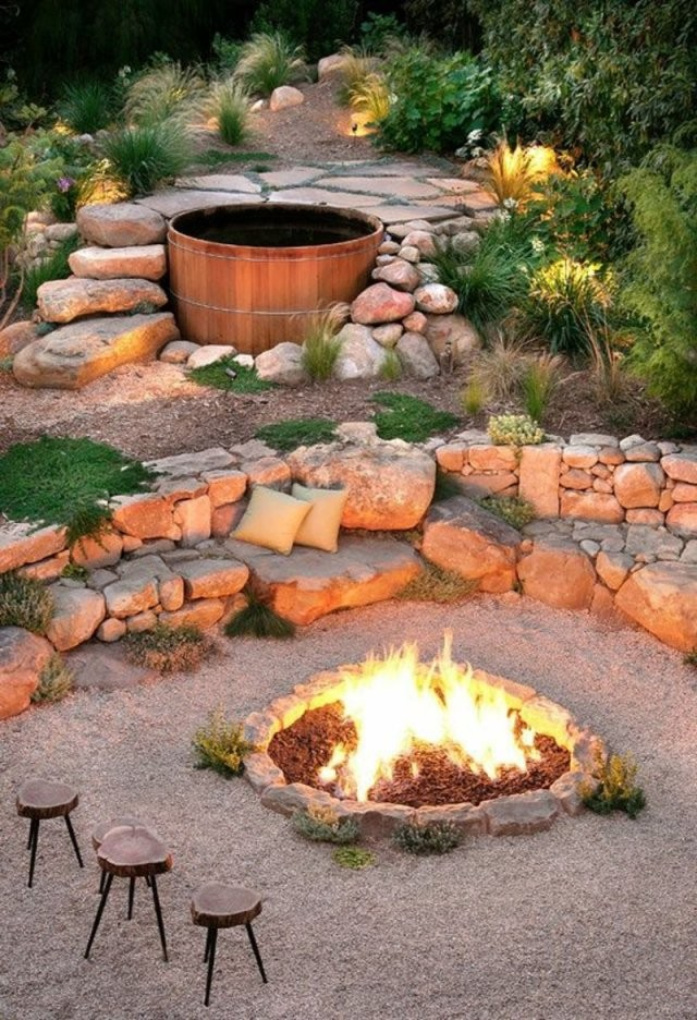 Wie Können Sie Eine Feuerstelle Bauen  60 Fotobeispiele von Garten Feuerstelle Selber Bauen Photo