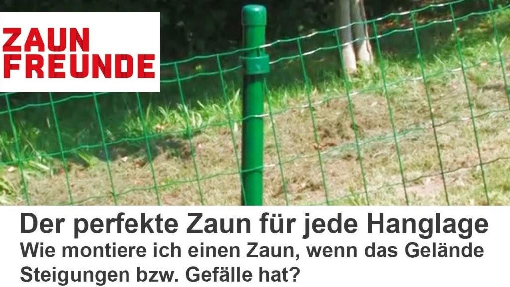 Wie Montiere Ich Einen Zaun Am Hang  Gefälle   Youtube von Holzzaun Am Hang Bauen Photo