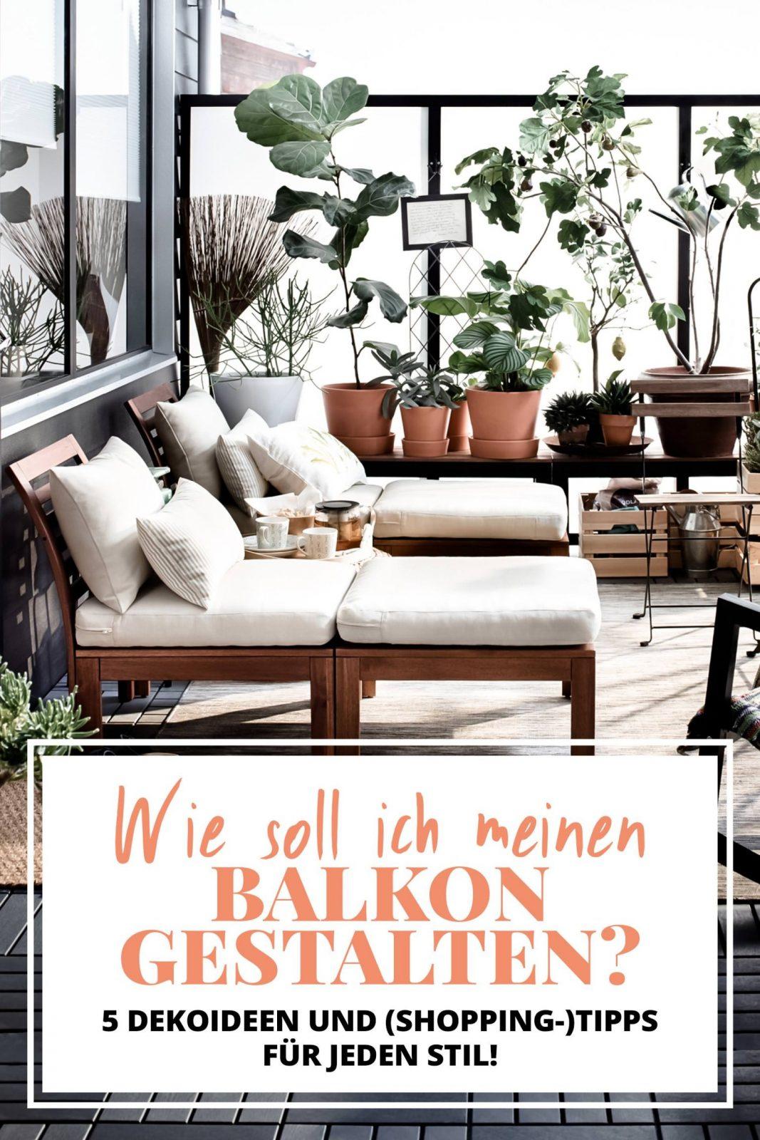 Wie Soll Ich Meinen Balkon Gestalten 5 Dekoideen Und Tipps Für von Balkon Gestalten Mit Wenig Geld Bild