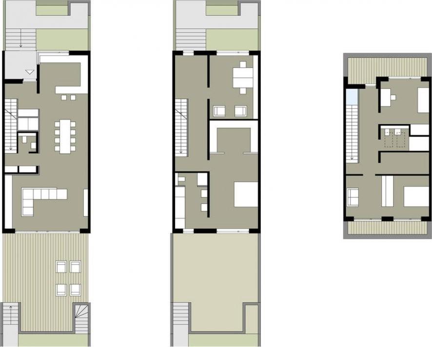 Wie Wird Ein Reihenhaus Individuell  Small House  Schmales Haus von Langes Schmales Haus Grundriss Bild