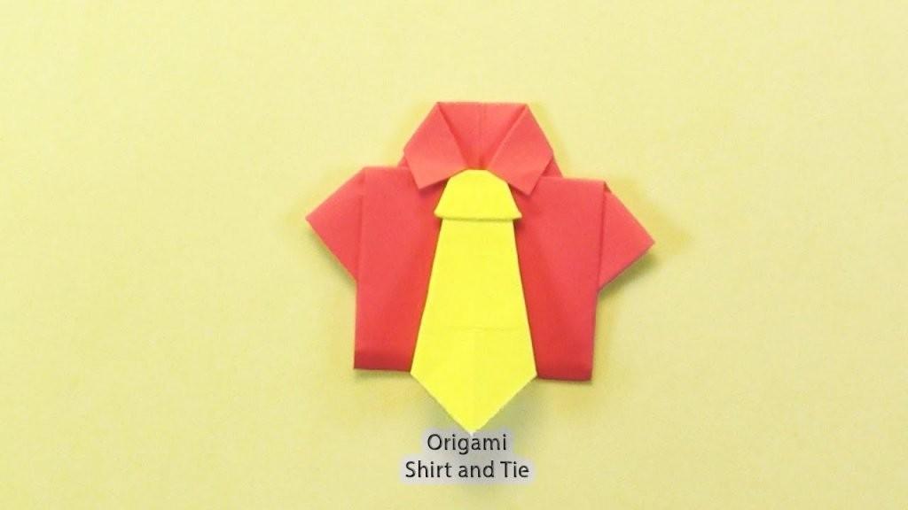 Wie Zum Origami Hemd Und Krawatte  Falthilfen  Tutorials  Origami von Origami Hemd Mit Krawatte Bild