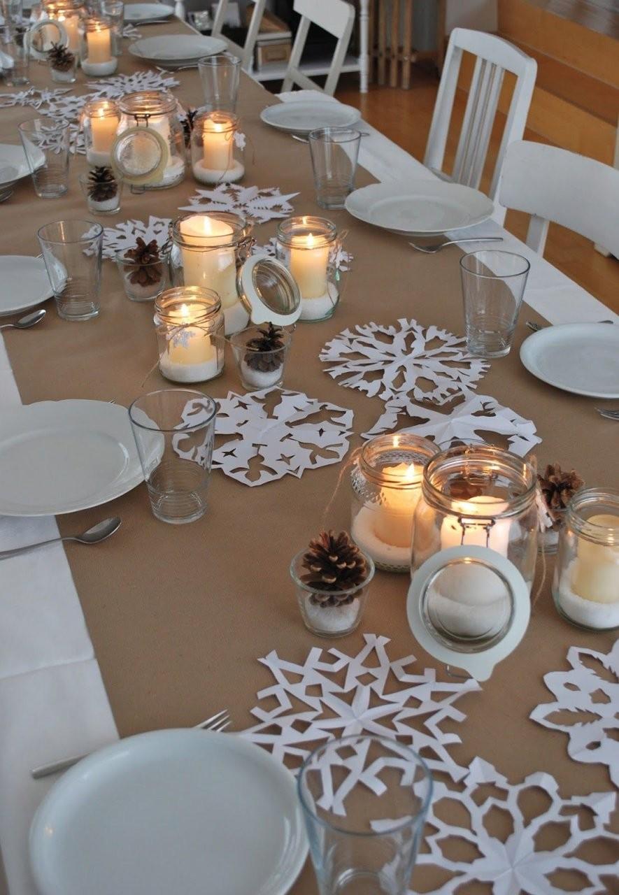 Winterlicher Meilenstein (Mamas Kram)  Centerpieces  Tischdeko von Tischdeko 50 Geburtstag Winter Bild