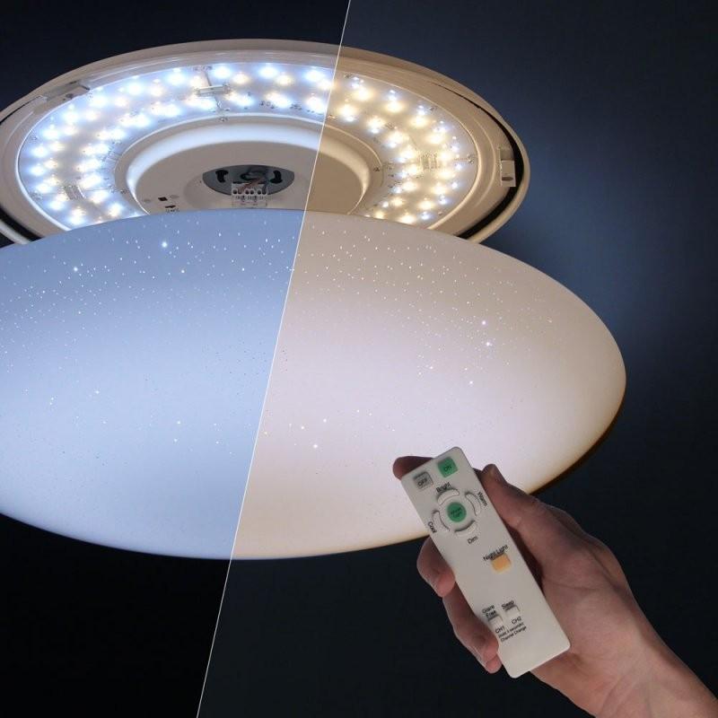 Wofi Ceres Leddeckenleuchte Ø 53Cm + Fernbedienung Nachtlicht von Led Deckenleuchte Dimmbar Farbwechsel Bild