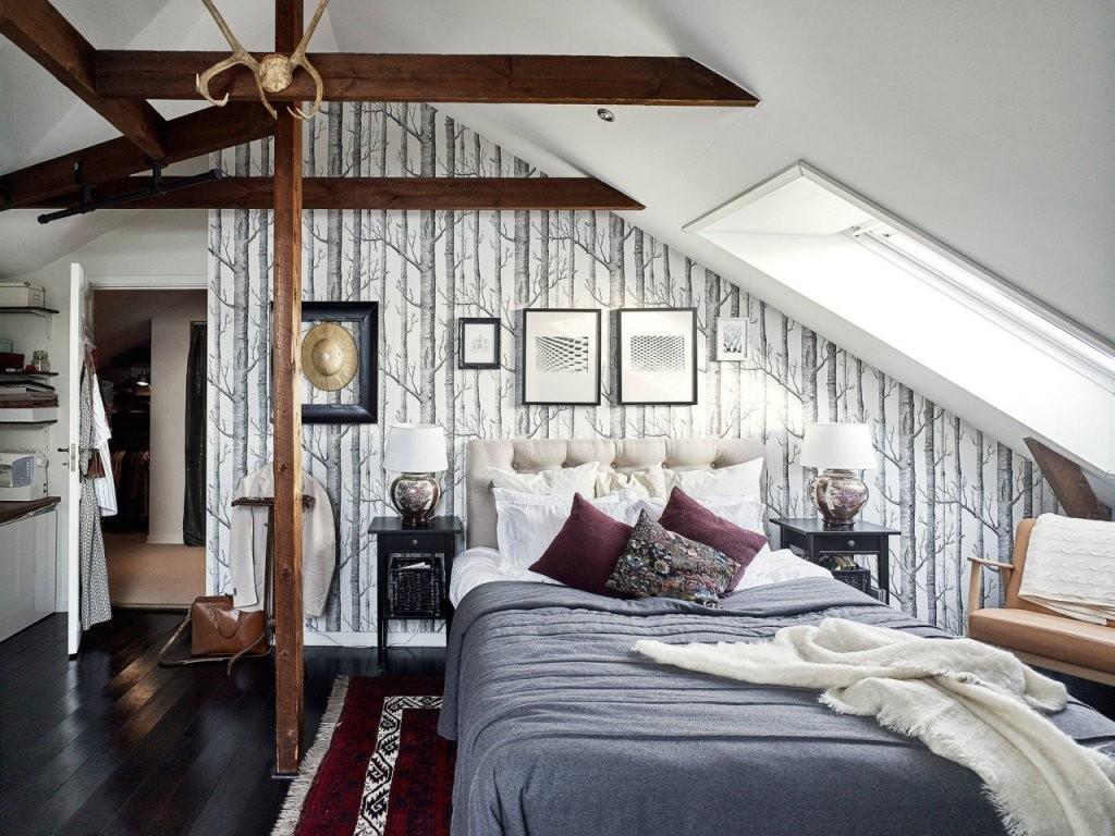 Wohnen Unter Der Dachschräge  Sweet Home von Einrichtungsideen Schlafzimmer Mit Dachschräge Photo