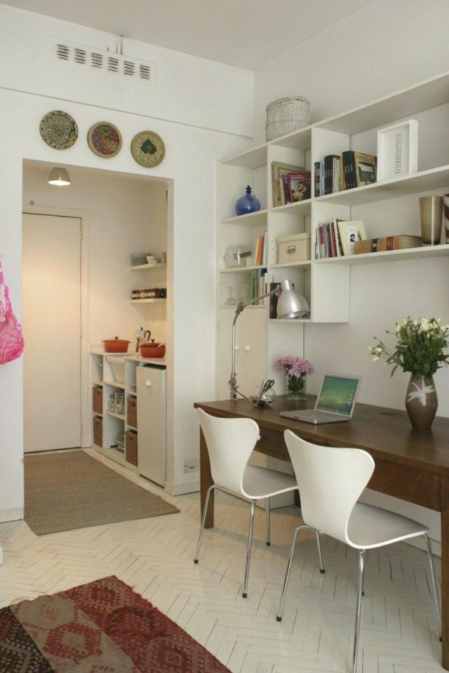 Wohnideen Für Kleine Räume  25 Wohn  Schlafzimmer von Wohn Und Esszimmer Kleiner Raum Bild