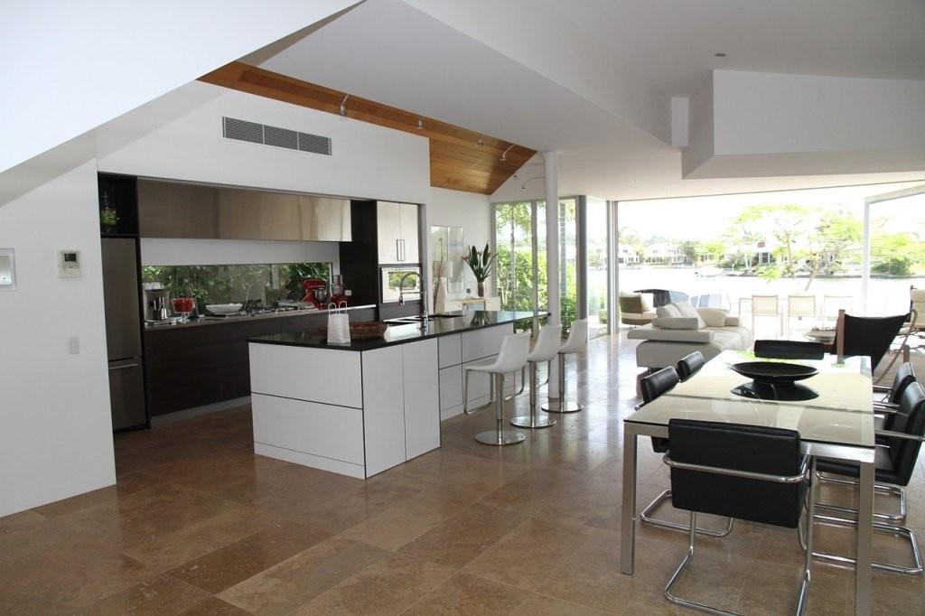 Wohnküchen Gestalten  Ideen Zur Einrichtung  Kalaydoskop von Wohnzimmer Mit Offener Küche Einrichten Bild