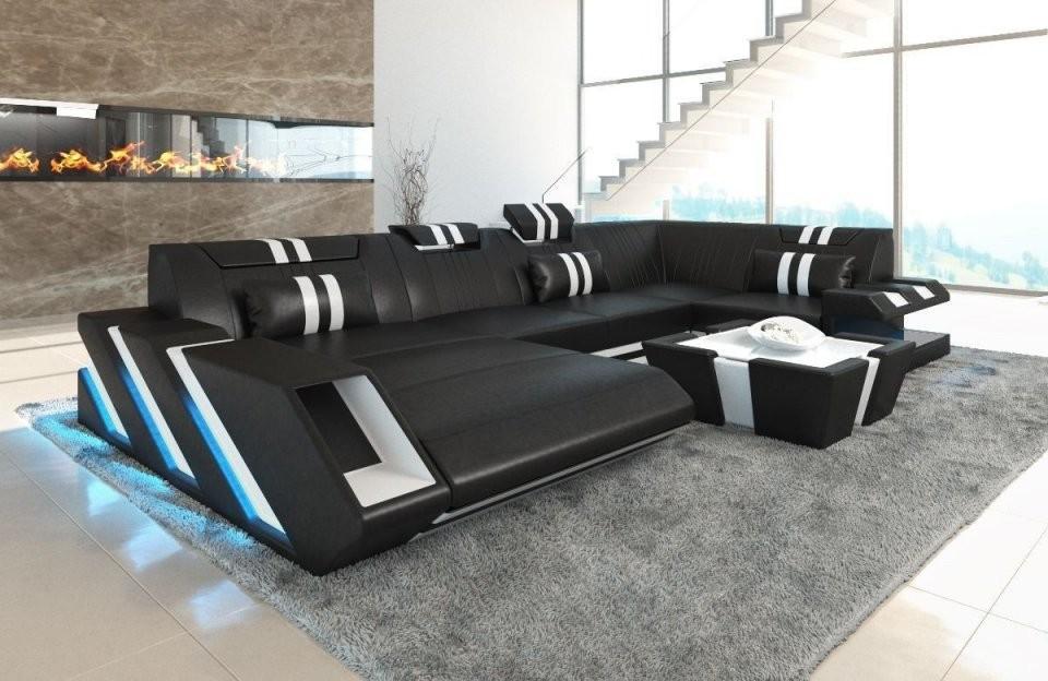 Wohnlandschaft Apollonia U Form In Leder – Sofa Günstig Kaufen von Günstige Wohnlandschaft U Form Photo