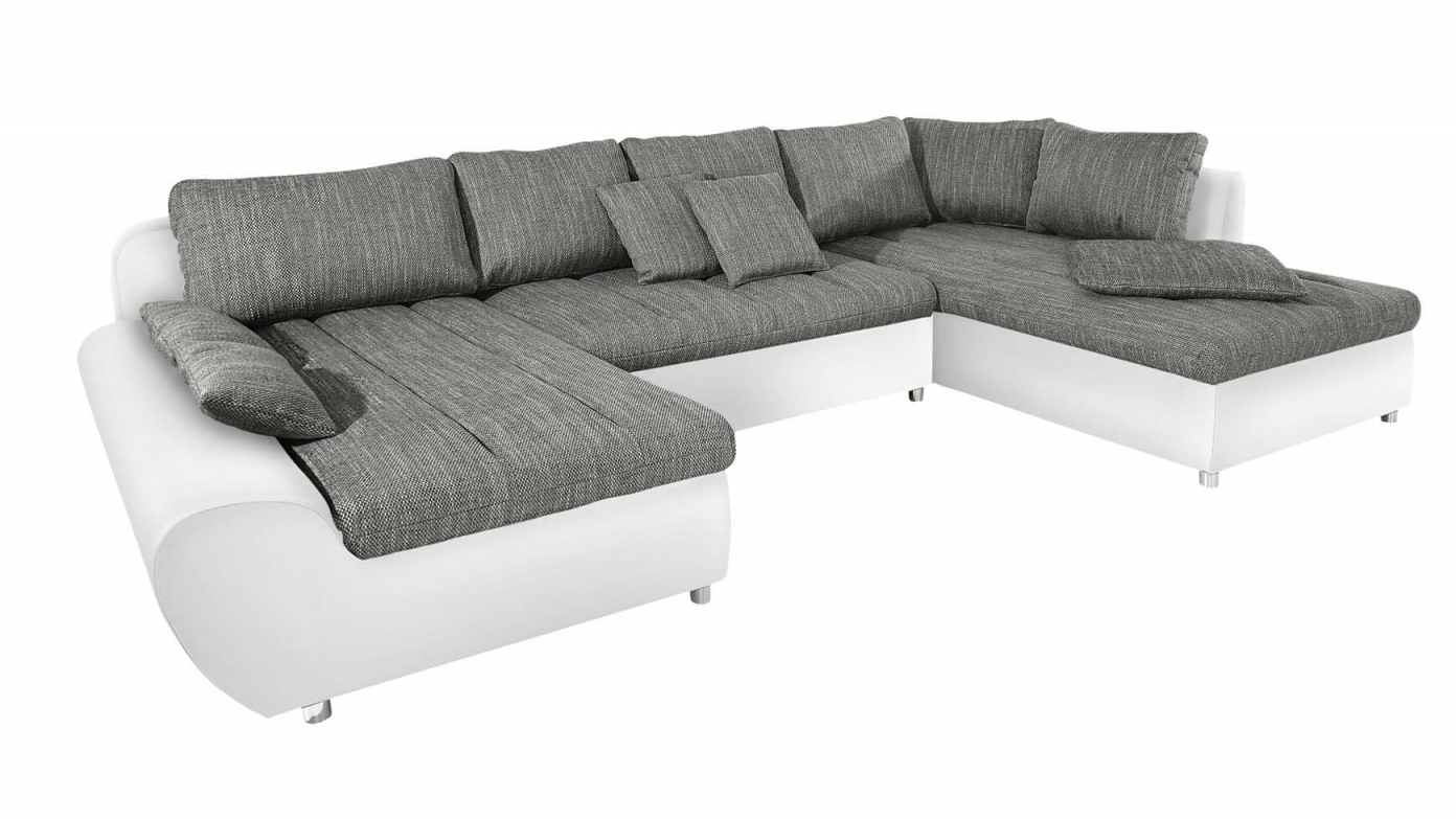 Wohnlandschaft Gemütliches Sofa In Uform Kaufen Bei  Cnouch von Wohnlandschaft Mit Federkern Und Bettfunktion Photo