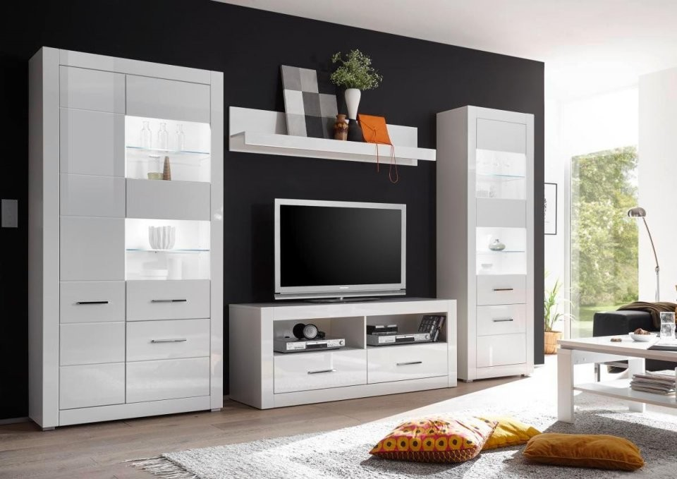Wohnwand Bianco ▷ Online Bei Poco Kaufen von Wohnwand Nussbaum Weiß Poco Bild