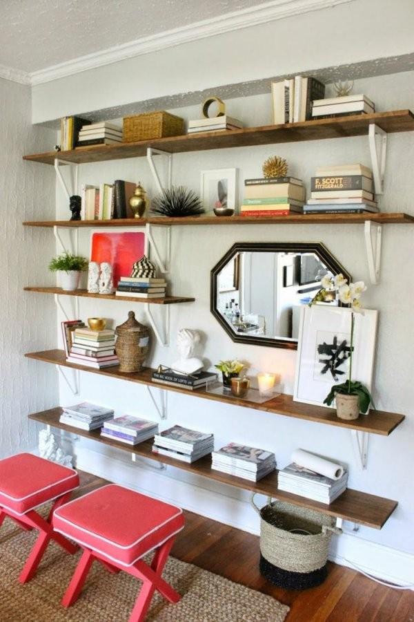 Wohnwand Selber Bauen  35 Einfache Ideen Zum Nachbauen von Regal Selber Bauen Ideen Photo