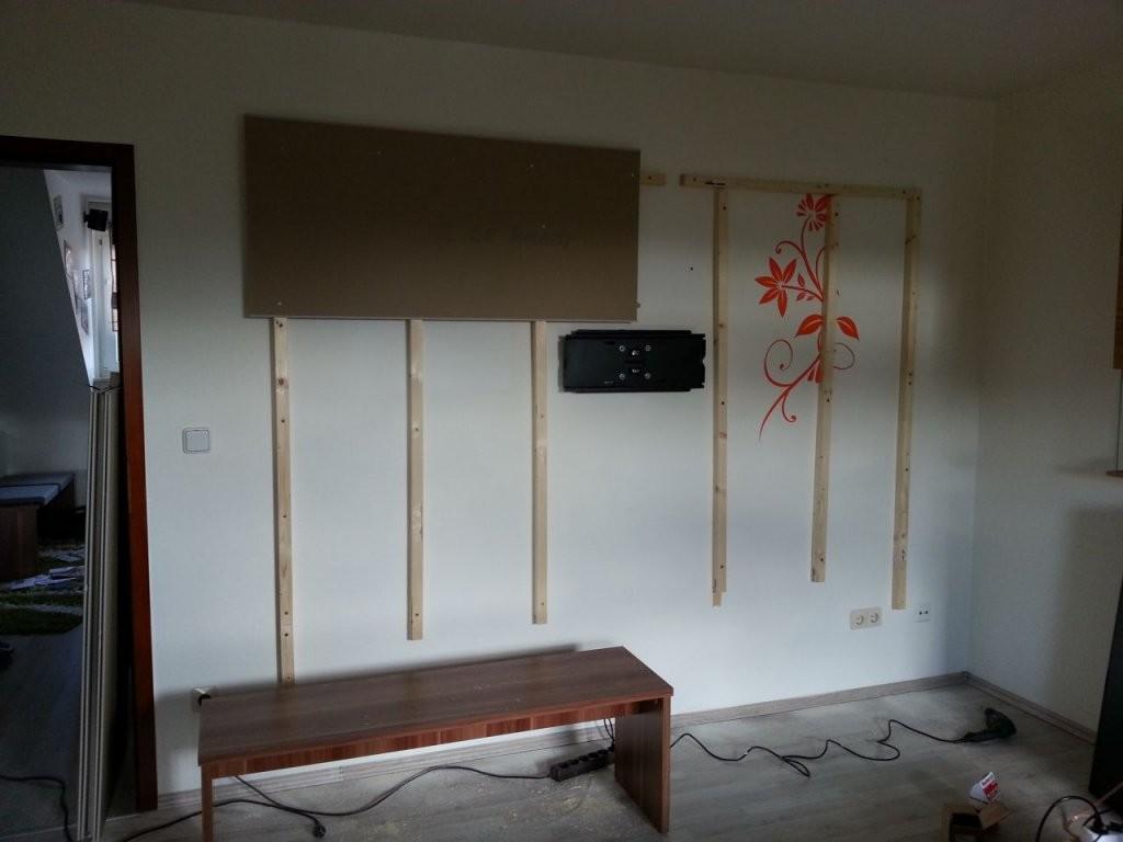 Wohnwand  Tv Wand Selbst Gebaut  Teil 1  Bauanleitung Zum von Fernsehwand Selber Bauen Anleitung Photo
