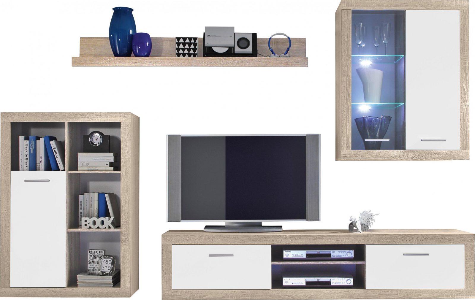 Wohnwand Weiß Sonoma Eiche Online Kaufen ➤ Xxxlutz von Wohnwand Unter 100 Euro Photo
