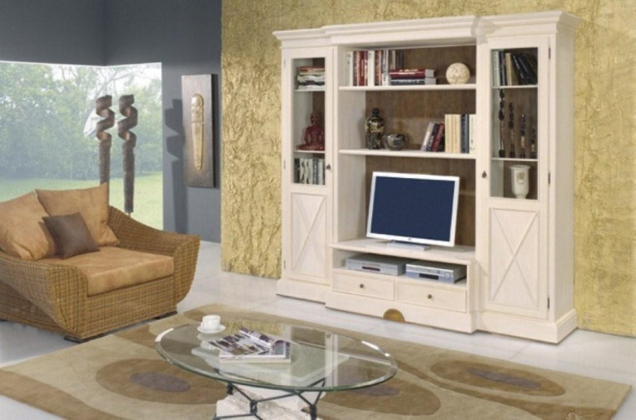 Wohnwand Wohnzimmerschrank Allegro 256 Cm Breit Pinie Massiv von Pinienmöbel Gekälkt Und Gebürstet Bild