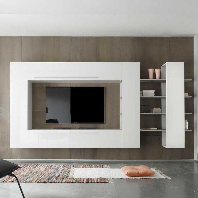 Wohnwände Online Vergleichen von Wohnwand Weiß Hochglanz Hängend Bild