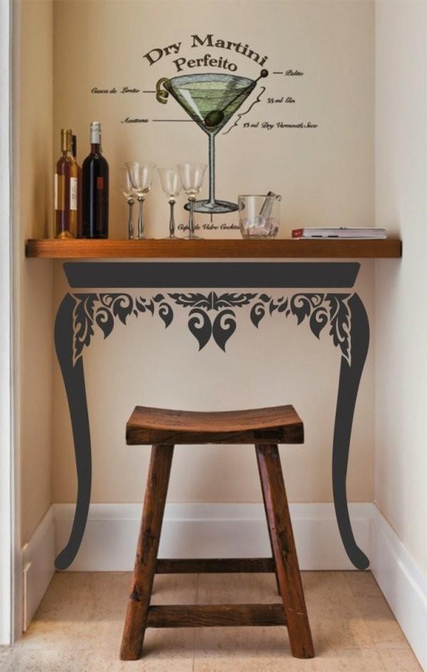 Wohnzimmer Bar  Attraktive Und Stilvolle Ideen Für Eine Tolle von Kleine Bar Fürs Wohnzimmer Bild