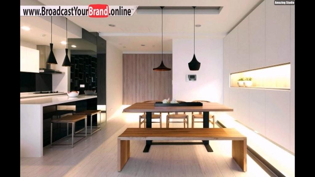 Wohnzimmer Einrichten Offene Küche  Youtube von Wohnzimmer Mit Offener Küche Einrichten Bild