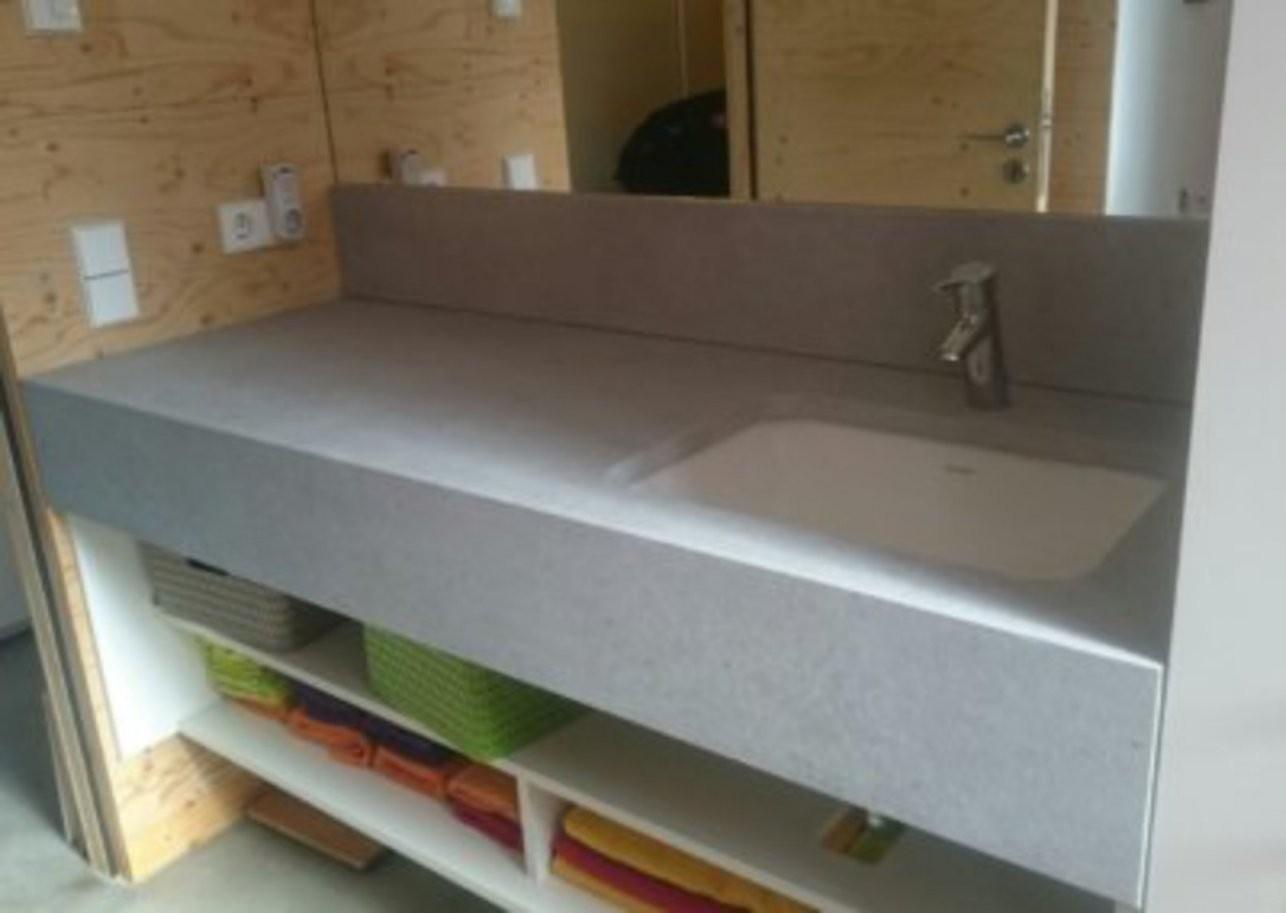 Wohnzimmer Gestalten  Modern  Grau Weiß Beton  Resimdo von Möbel In Betonoptik Streichen Bild