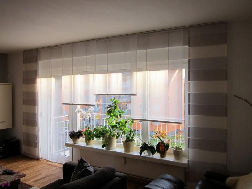 Wohnzimmer Übergardinen  Haus Ideen von Gardinen Ideen Wohnzimmer Modern Bild