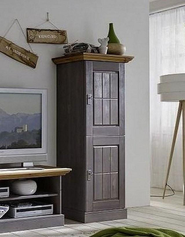 Wohnzimmerschrank 66X164X48Cm 2 Holztüren Kiefer Massiv 2Farbig von Wohnzimmerschrank Kiefer Gelaugt Geölt Bild