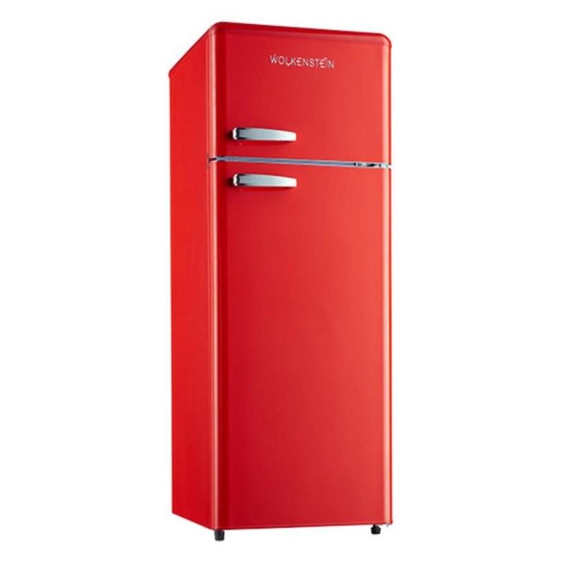 Wolkenstein Gk2124Rt Fr A++ Rot Retro Kühlschrank G  Real von Real Kühlschrank Mit Gefrierfach Bild