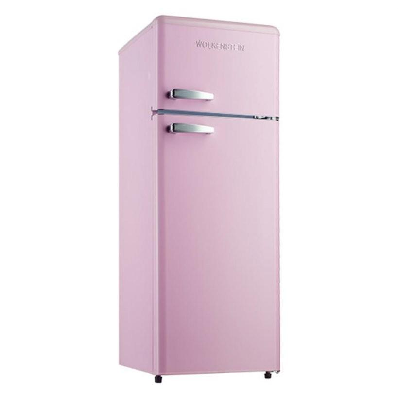 Wolkenstein Gk2124Rt Sp A++ Pink Retro Kühlschrank G  Real von Real Kühlschrank Mit Gefrierfach Photo