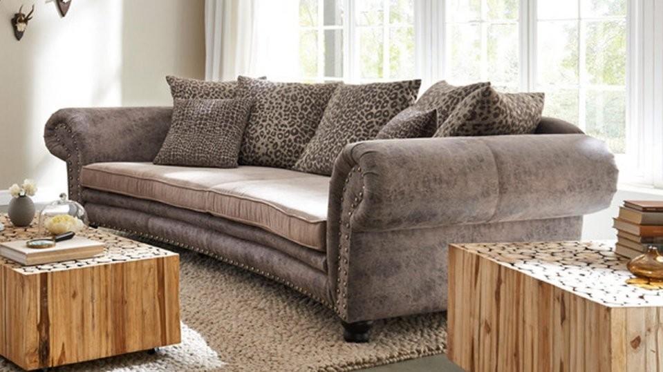 Woods  Trends Megasofa  Bigsofa Mit Federkern Bezug In Brauntönen von Gutmann Factory Big Sofa Bild