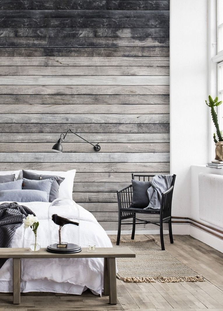 Worn Wood  Tapeten Für's Schlafzimmer  Schlafzimmer Tapete von Tapeten Design Ideen Schlafzimmer Bild