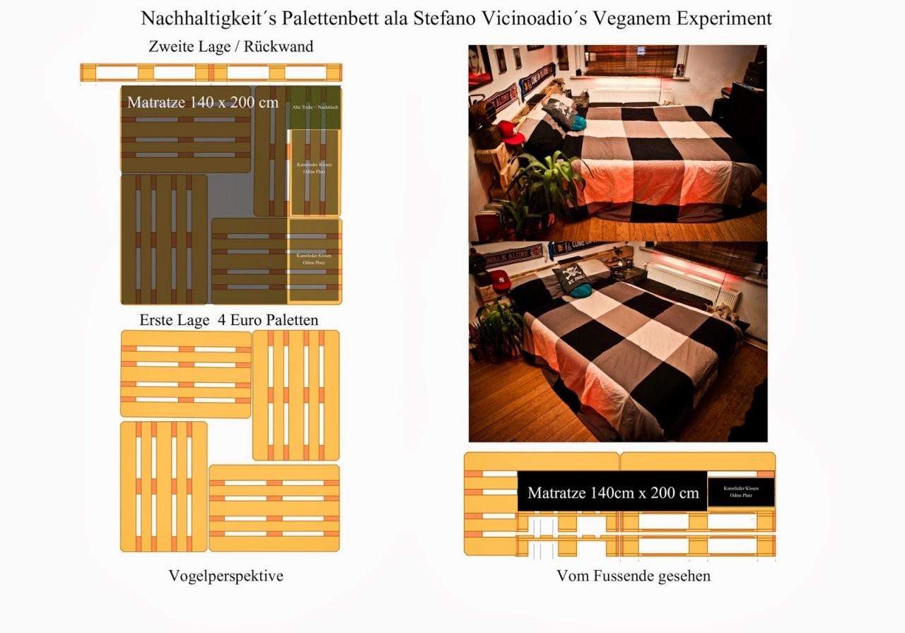 Wunderbar Paletten Bett 140X200 Fesselnd Auf Kreative Deko Ideen In von Bett Aus Paletten Bauen 140X200 Photo