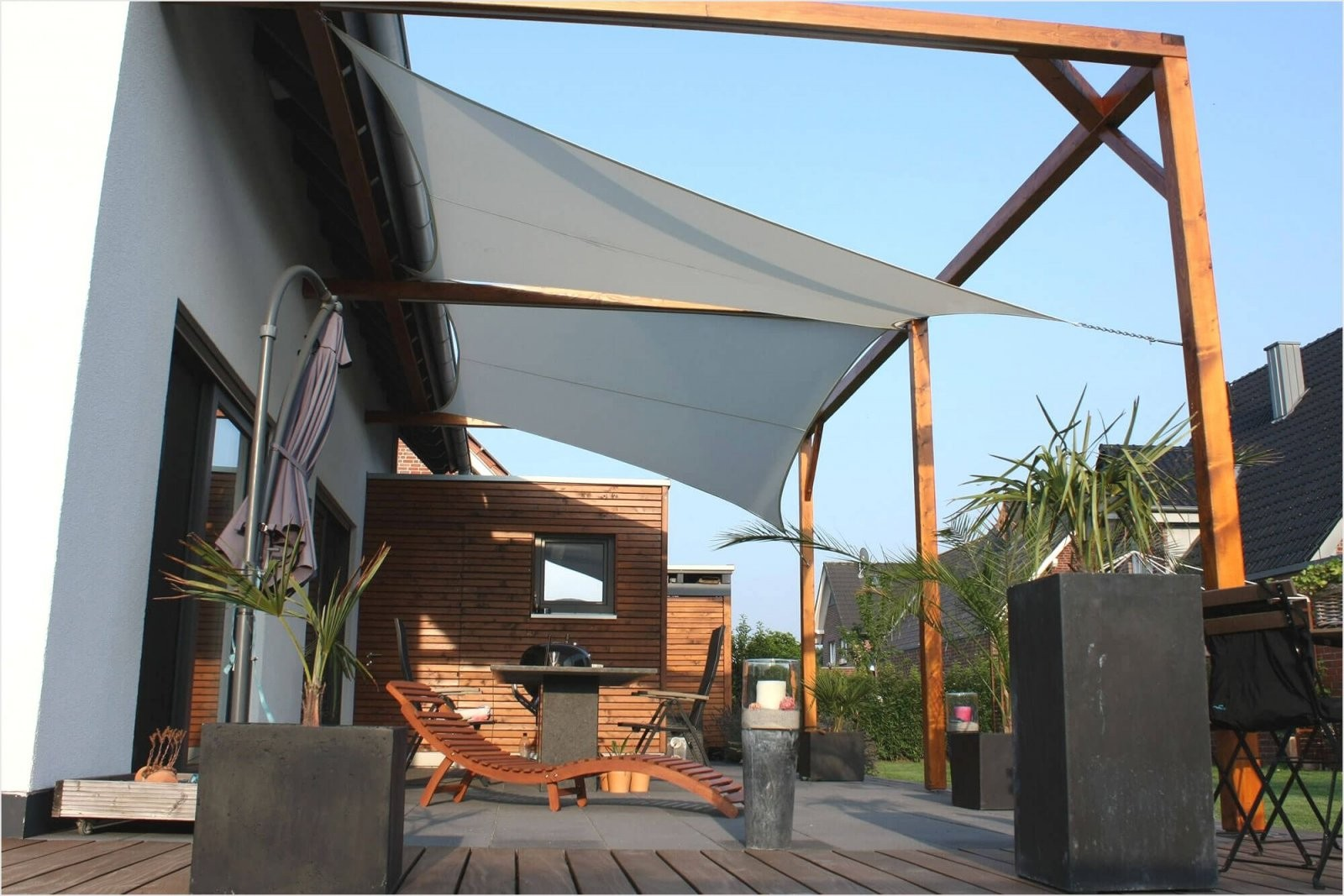 Wunderbarsonnensegelsonnenschutzsegeljalousiescoutsonnenschutz von Balkon Dach Ohne Bohren Photo