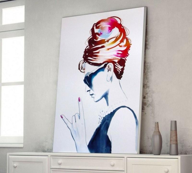 Xl Leinwand Bild 100X75X5 Audrey Hepburn Loft Design Canvas Gemälde von Audrey Hepburn Bild Ikea Bild
