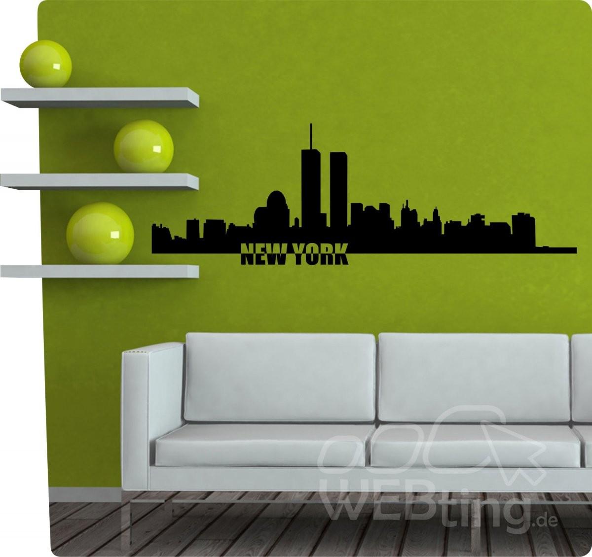 Xxl Wandtattoo Skyline New York Usa Wandaufkleber Aufkleber Sticker von Skyline New York Wandtattoo Photo