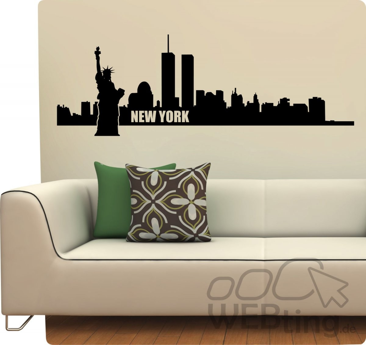 Xxl Wandtattoo Skyline New York Usa Wandaufkleber Aufkleber Sticker von Skyline New York Wandtattoo Photo